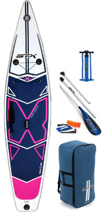 "Stx 11'6 X 32 ""x-light Pure Touring Gonfiabile Stand Up Paddle Board , Pagaia, Borsa, Pompa E Guinzaglio Viola"