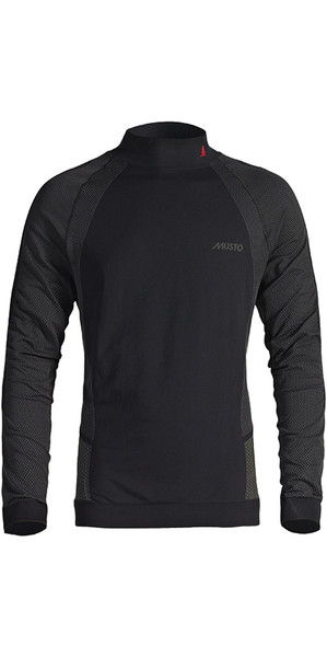 2019 Musto Active Capa base manga larga Top negro SU0150