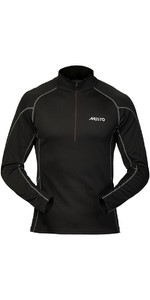2019 Musto Thermal Base Layer Zip Neck Top Black SU3539