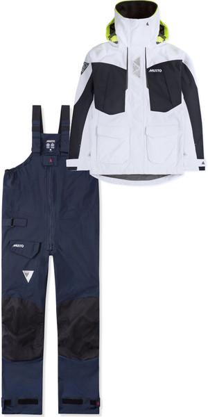 2019 Musto Womens BR2 Offshore Jacket SWJK014 & Trouser SWTR010 Combi Set White / Navy
