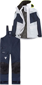2019 Musto Frauen Br2 Coastal Jacke Swjk015 & Hosen Swtr010 Kombi - Set Weiß / Navy