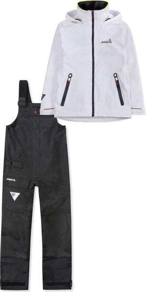 2019 Musto BR1 damesjack voor dames SWJK016 & broekpak SWTR011 combiset wit / zwart