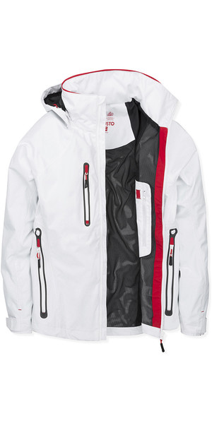 2019 Musto Womens Sardinia BR1 Jacket White / True Red SWJK017