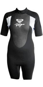 Roxy Womens Syncro 2mm Shorty Wetsuit Black / White SY65WS