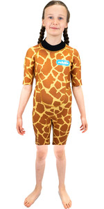 2021 Saltskin Junior 2mm Back Zip Shorty Wetsuit STSKNGRFF02 - Giraffe