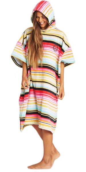 2019 Billabong Junior Girls Salty Bata cambiante con capucha / Poncho Serape N4BR20