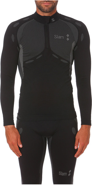 2019 Slam Stockton Half Zip Base Layer Top negro S119016T00