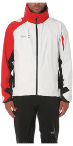 2019 Slam Win-d Racing Jacket + Salopette Combi Set Blanco / Rojo / Negro