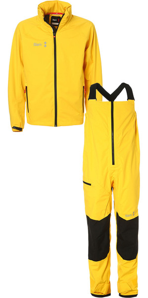 2019 Slam WIN-D Sailing Jacket + Trouser Combi Set Yellow