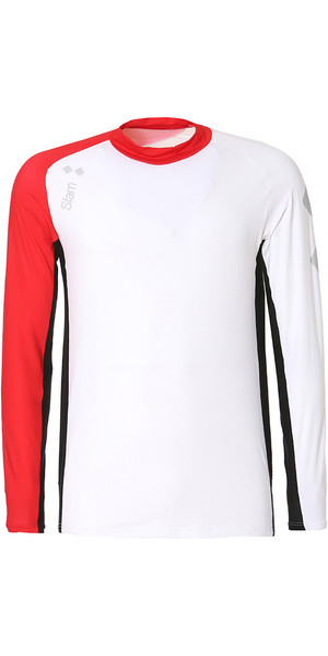 2019 Slam WIN-D Breeze LS Tech camiseta blanca / roja S112477T00