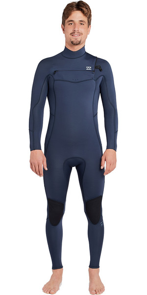 2019 Billabong Fornalha Absoluta 4 / 3mm Peito Zip Wetsuit Ardósia L44M09