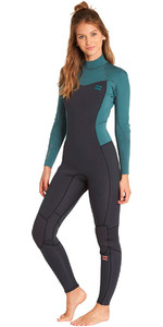 Billabong Junior Furnace Synergy 4/3mm Back Zip Wetsuit Sugar Pine L44B02