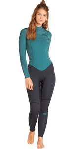 2019 Billabong Women's Furnace Synergy 4 / 3mm Bryst Zip Wetsuit Sugar Pine L44G03