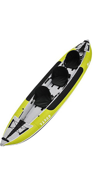 2018 Z-Pro Tango 3 Man Inflatable Kayak TA300 GREEN - Kayak Only 2ND