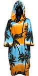 2019 Tls Con Cappuccio Poncho / Change Robe Palm Tree