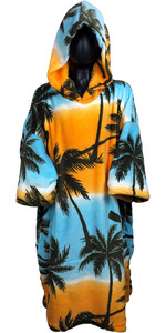 2019 TLS Hooded Poncho / Change Robe Palm Tree