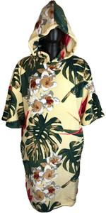 2019 Poncho Con Cappuccio Tls / Vestaglia Vintage Hawaii
