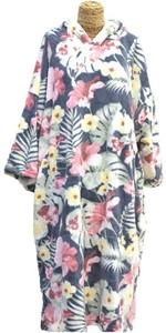 2021 TLS Hooded Change Robe Poncho - Flower