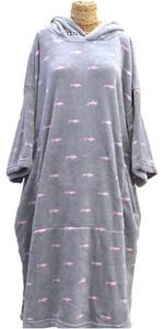 2021 TLS Hooded Change Robe Poncho - Shark Dot