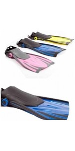 2019 Typhoon Kids junior T-Jet Fins en azul 330183
