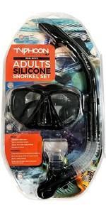 Typhoon Pro Máscara Adulto Silicone & Snorkel 320384 - Preto