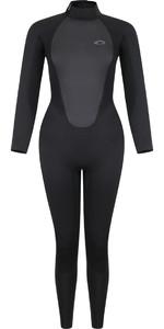 2021 Typhoon Womens Storm5 5/4mm Back Zip Wetsuit 251010 - Black