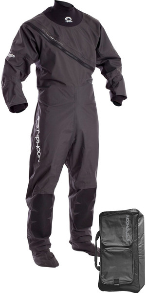 2018 Typhoon Ezeedon 3 Front Zip Drysuit Gray incluyendo Walrus Bag 100158