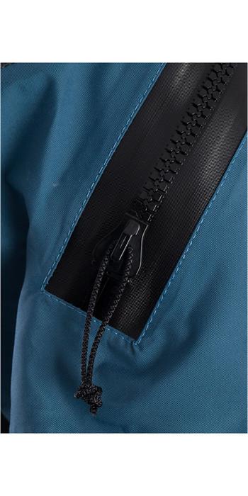 2021 Typhoon Hypercurve 4 Back Zip Drysuit Mit Socken & Underfleece Teal / Grau 100170