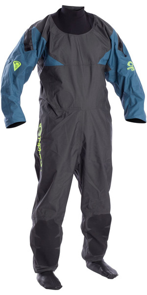 2018 Typhoon Hypercurve 4 Zip- Drysuit mit Socken Teal / Grey 100170
