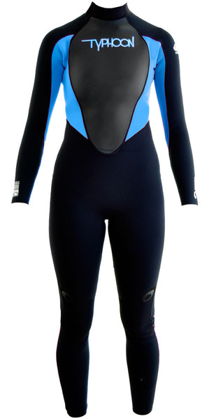 2019 Typhoon Junior Girls Storm 5mm Wetsuit Black / Periwinkle 250607