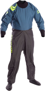 2020 Typhoon Junior Rookie Drysuit Refuerzos De Neopreno Gris / Verde Azulado 100172