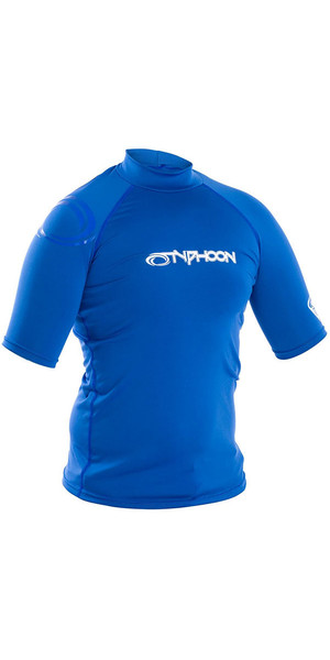 2018 Typhoon Junior Short Sleeve Rash Chaleco Aqua Blue 430073
