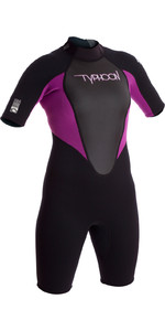 Typhoon Dames Storm 3/2mm Shorty Wetsuit Iris / Zwart 250891 2019