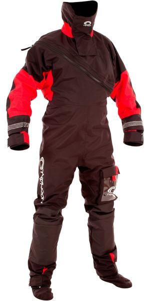 Drysuit Typhoon Max B Drysuit Avec Con Zip Noir / Rouge 100168