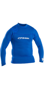 2019 Typhoon Mens manga comprida Rash Vest Azul 430013