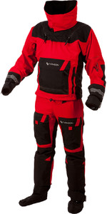 2019 Typhoon PS330 Extreme Kayak / Ocean Sailing Drysuit + Con Zip Nero / Rosso 100151