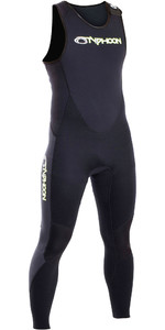 2019 Typhoon Herren Storm 3mm Long John Wetsuit Schwarz 250800