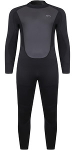 2021 Typhoon Mens Storm3 3/2mm Back Zip Wetsuit 25077 - Black / Graphite