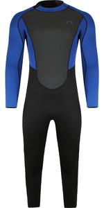 2021 Typhoon Heren Storm3 3/2mm Back Zip Wetsuit 25077 - Zwart / Nite Blue