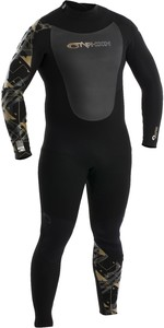 2020 Typhoon Mens Vortex 5/4mm GBS Back Zip Wetsuit 250654 - Black / Gold