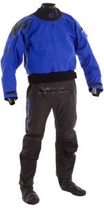 2018 Typhoon Multisport 5 Latex Seal Drysuit + Con Zip BLUE / BLACK 100166