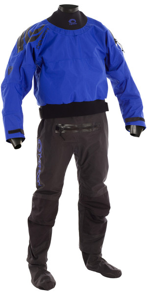 2019 Typhoon Multisport 5 Latex Drysuit + Con Zip BLAU / SCHWARZ 100166