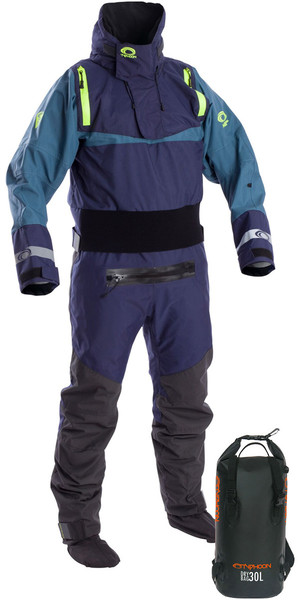 2019 Typhoon Multisport 5 Havkajak Drysuit Inc Dry Rygsæk Bag Navy / Teal 100176
