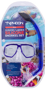 Typhoon Pro Junior / Dames Snorkelset Blauw 320287 2019