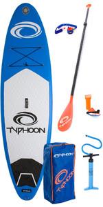 2019 Typhoon Aufblasbares Sup Paket 10'2 Inc Platte, Tasche, Pumpe, Paddle & Leine 482.113