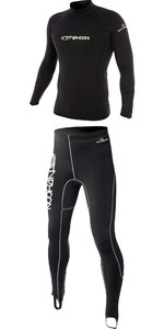 2020 Typhoon ThermaFleece Top & Trouser Combi Set Black
