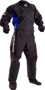 2019 Typhoon Womens Ezeedon 3 Drysuit Front Zip + Fabric Socks Black / Blue 100159 2ND Seconds