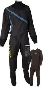 2020 Typhoon Kvinders Ezeedon 4 Front Zip Drysuit & Gratis Underfleece 100175 - Sort