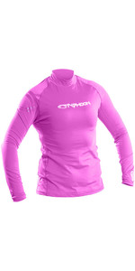 2019 Typhoon Womens Long Sleeve Rash Vest Violet 430032