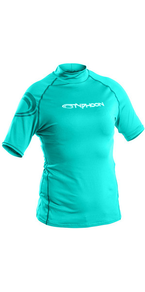 2018 Typhoon Junior Short Sleeve Rash Chaleco Aqua Green 430075